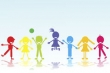 colored smiling kids silhouettes 157435494g